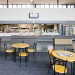 Cafe seating and servery