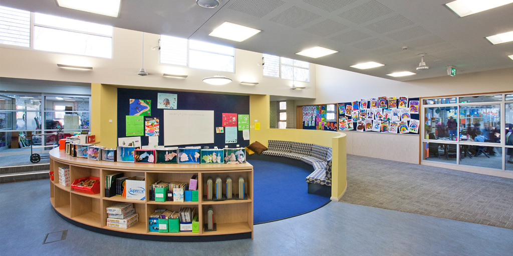 Ccj architects st john the apostle primary school for Reading space design